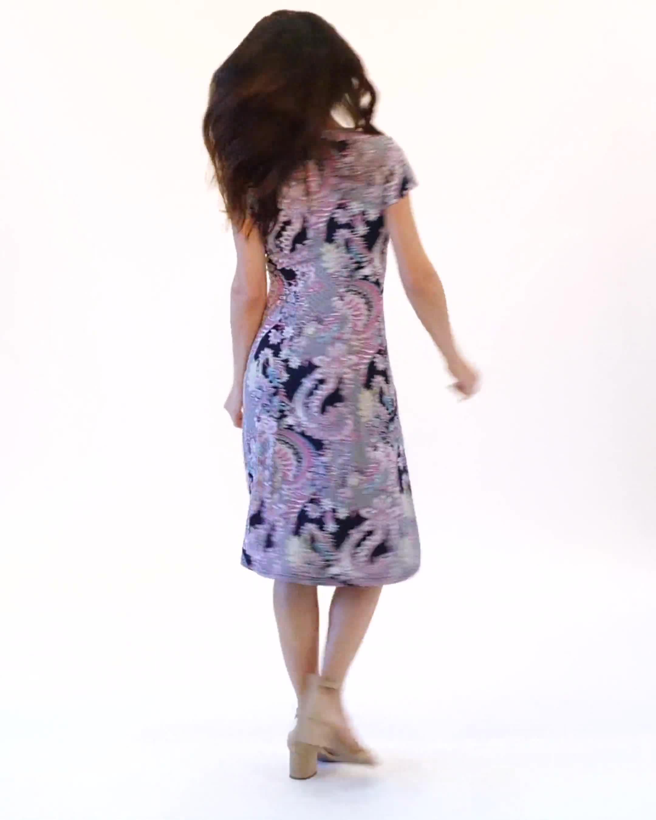 Paisley Seam Detail Dress - Video