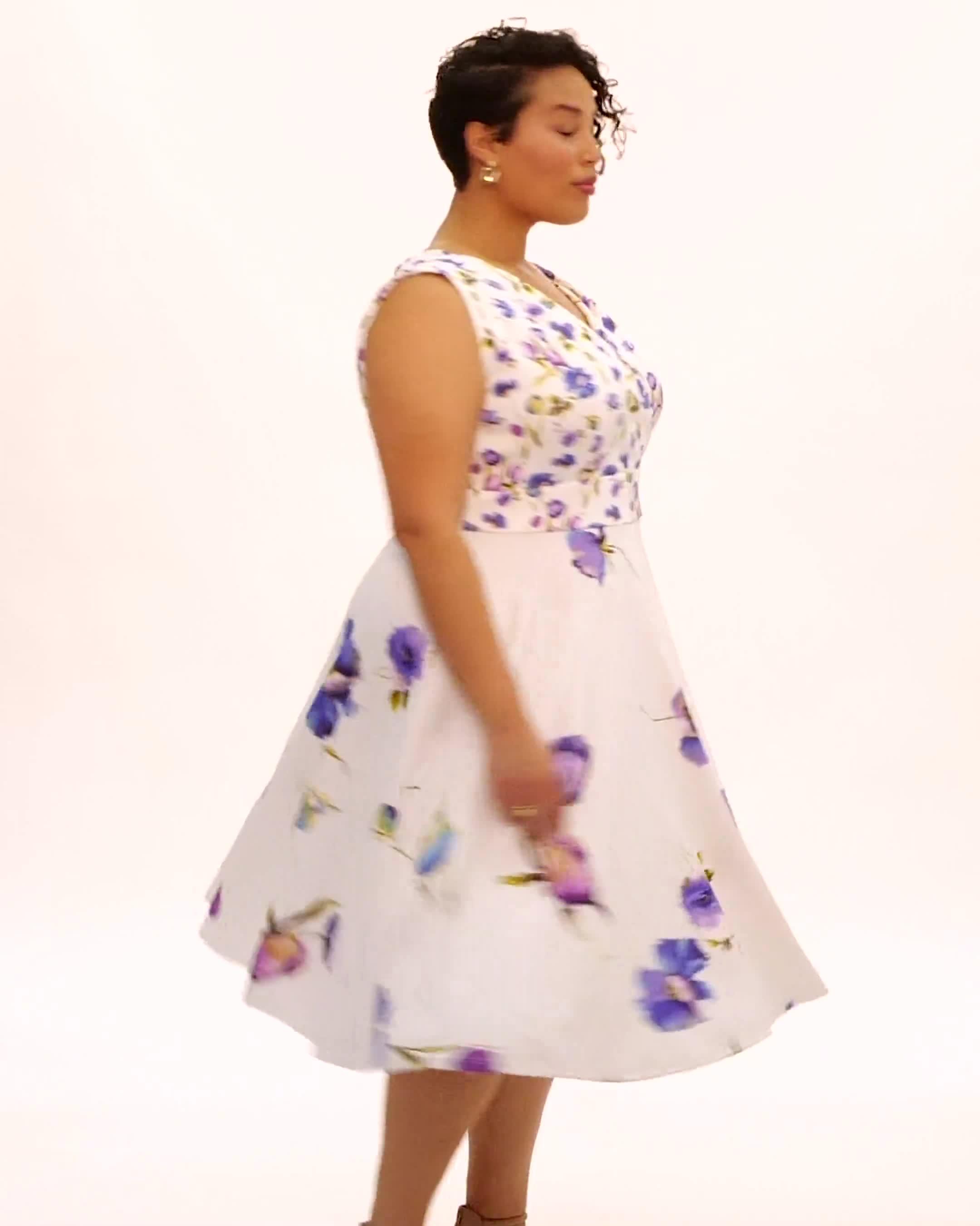 Mock Wrap Scuba Dress - Video
