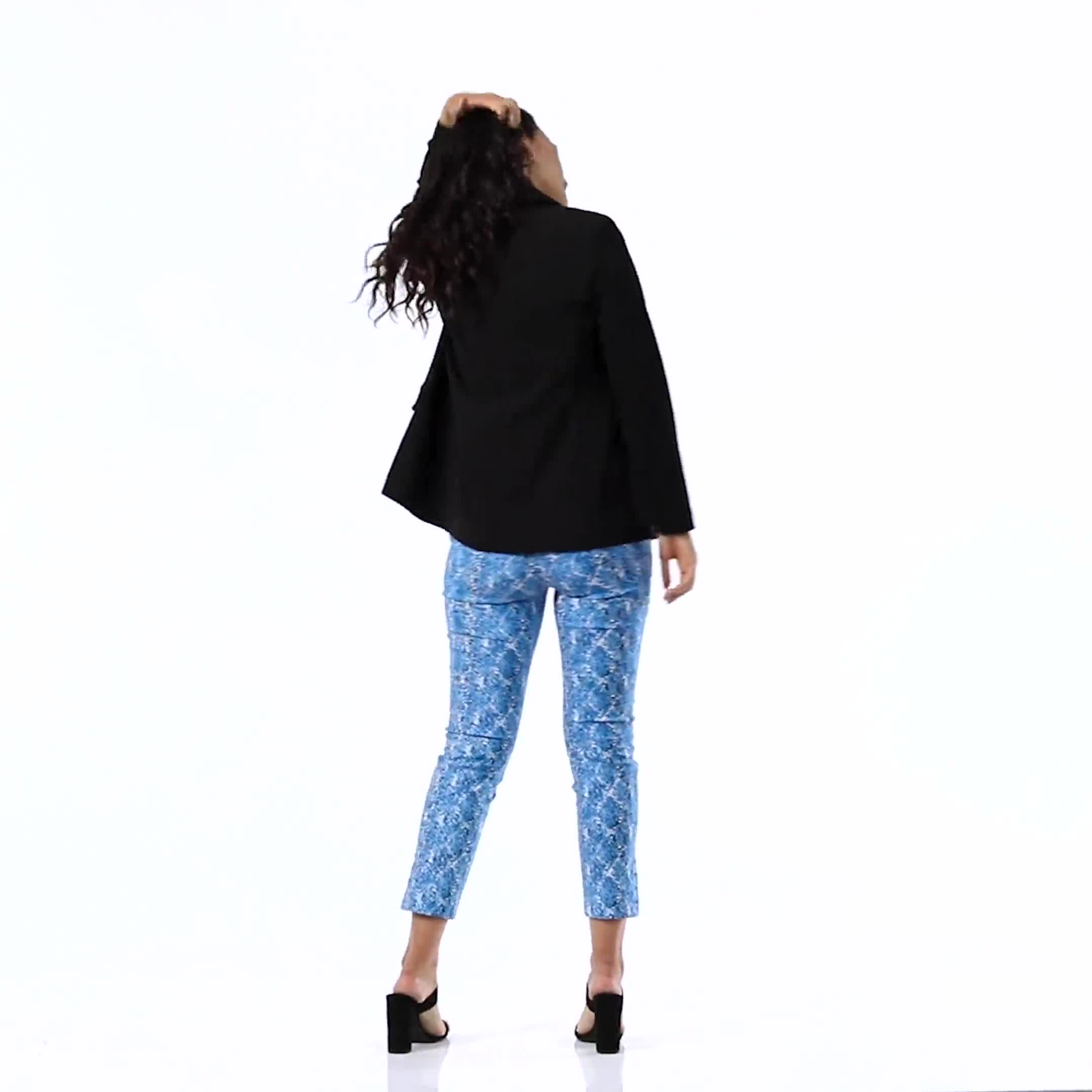 Printed  Superstretch Pull On Pants - Video