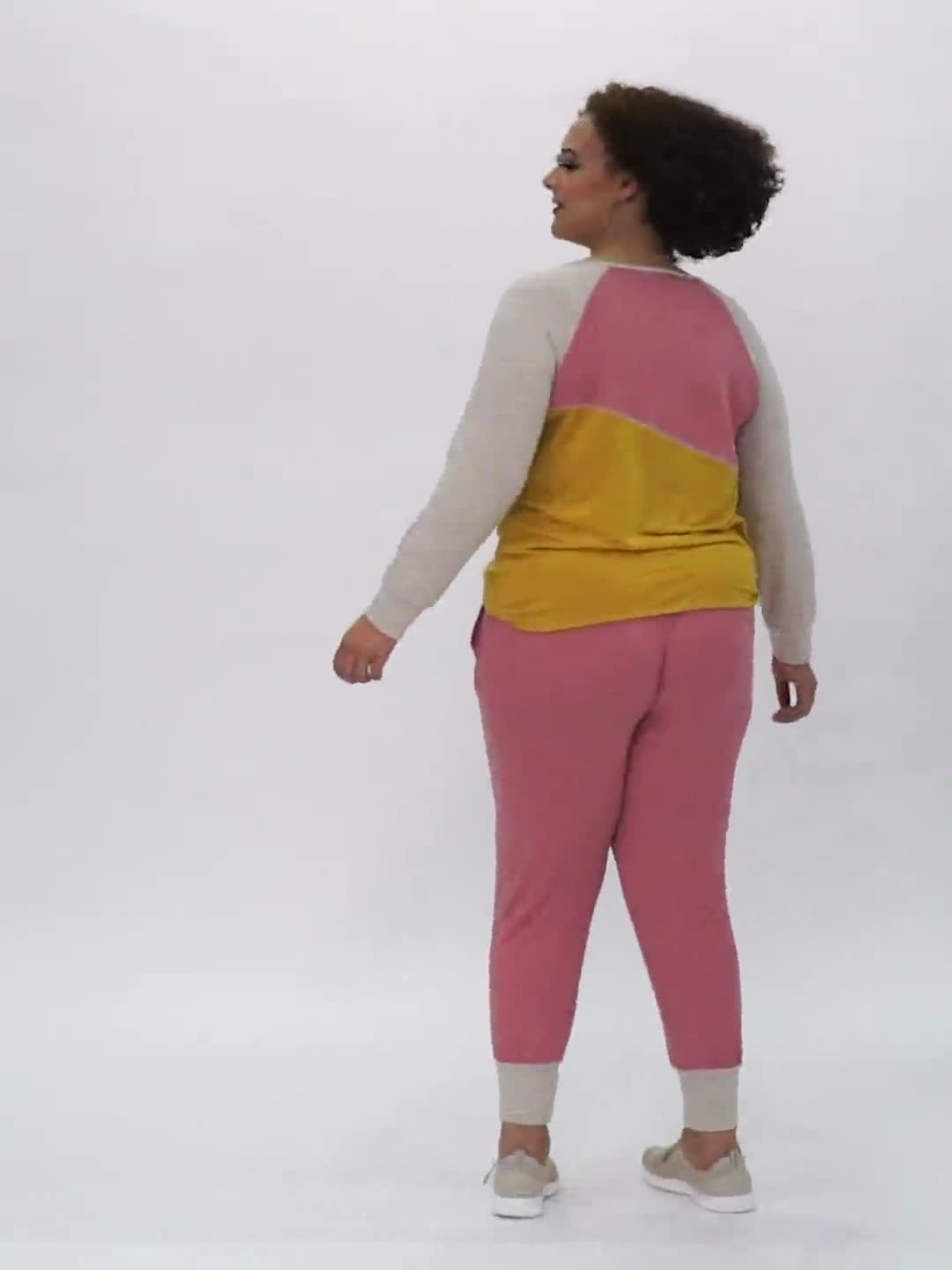 Color Block Sweatshirt with Stitch Detail - Video