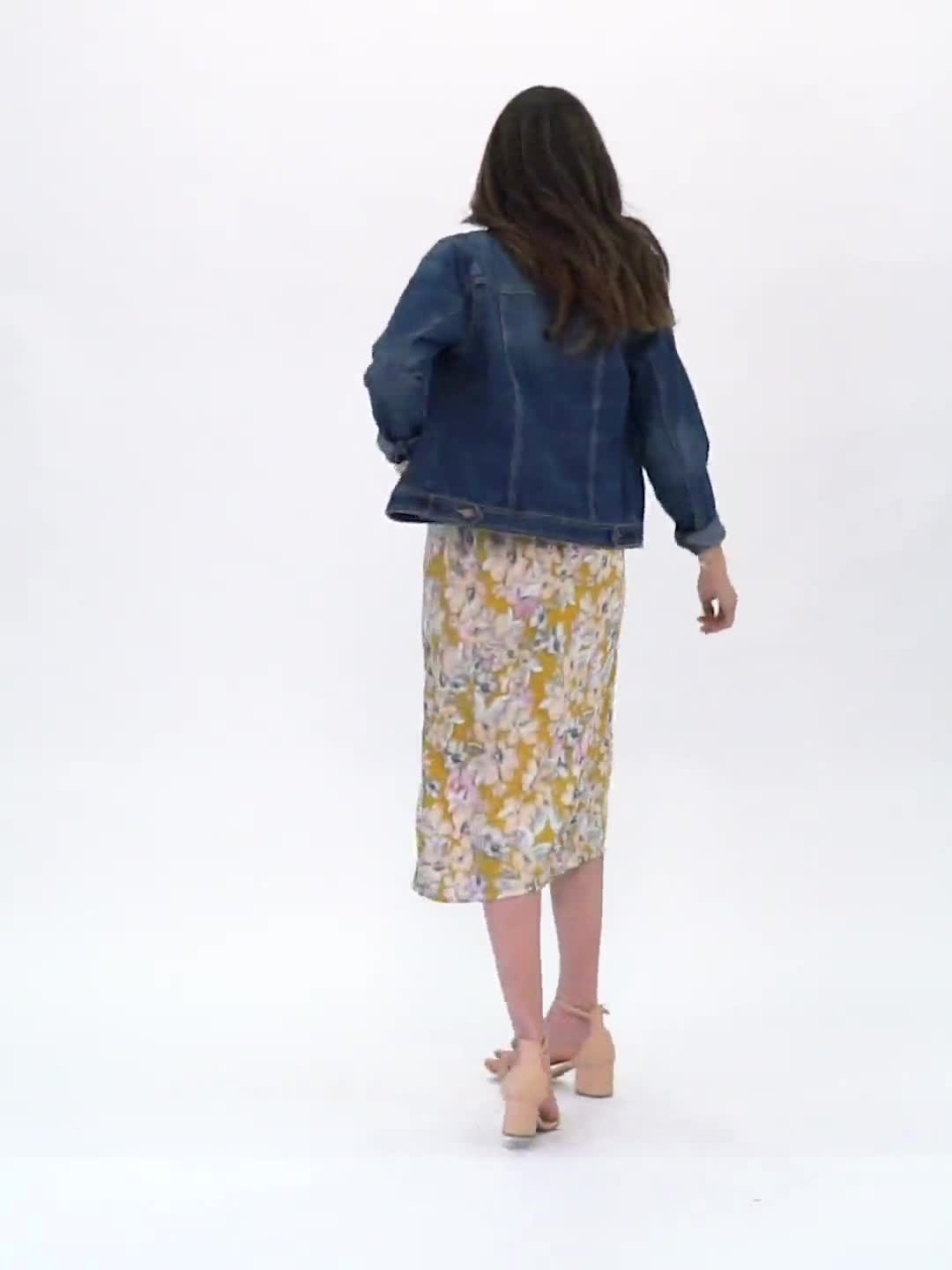 Floral Printed Slip Skirt - Video