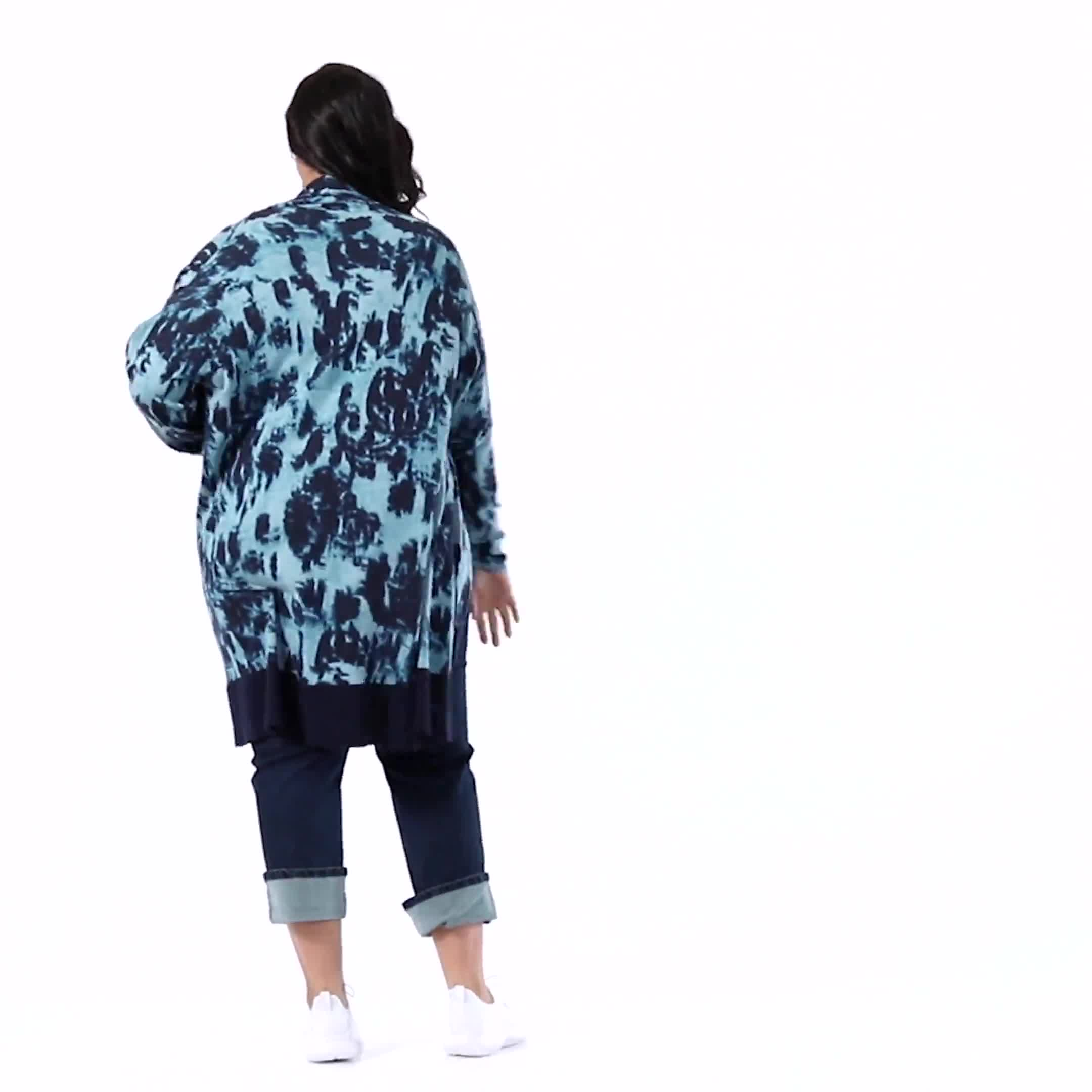 Roz & Ali Tie Dye Duster - Plus - Video