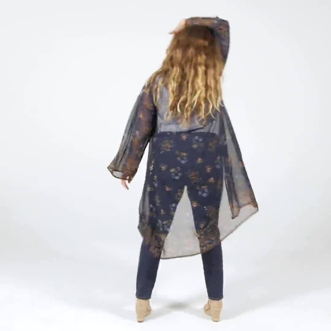 Dressbarn Floral  Border Kimono - Plus - Video