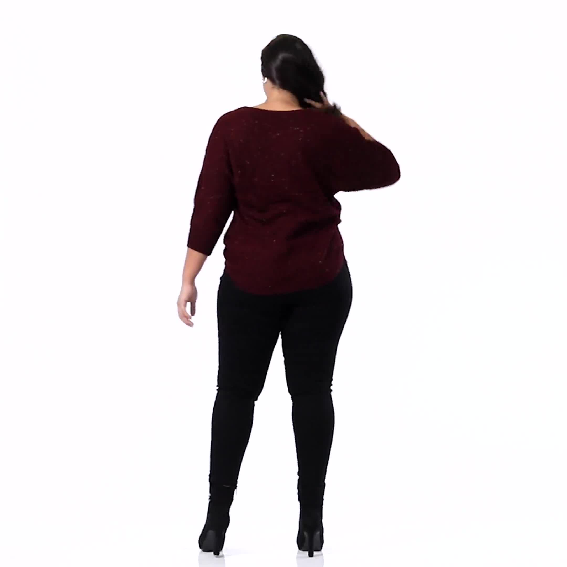 Westport Signature High Rise Pull On Jegging Jean - Plus - Video