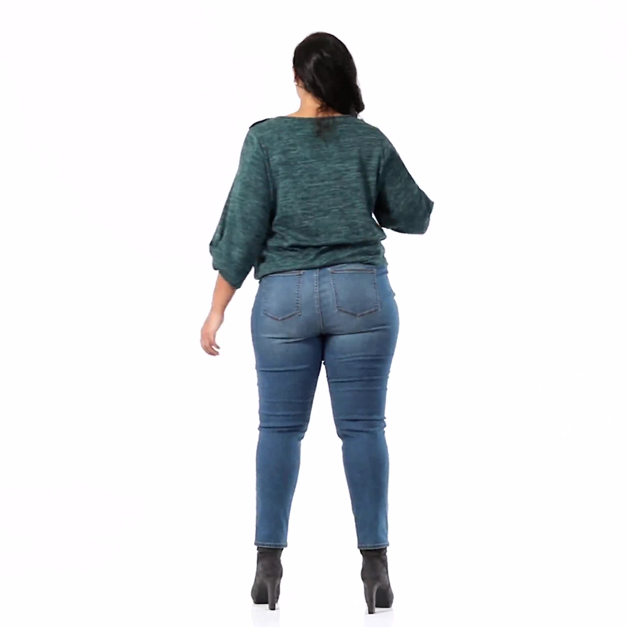 Plus- Westport Signature 5 Pocket Skinny Jean - Video