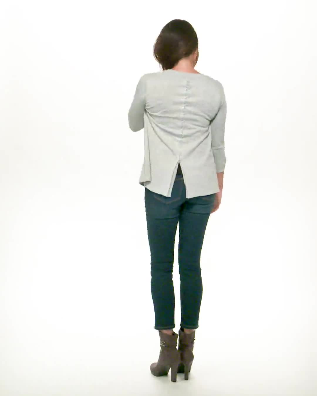 Roz & Ali Lace-Up Back Cardigan - Misses - Video