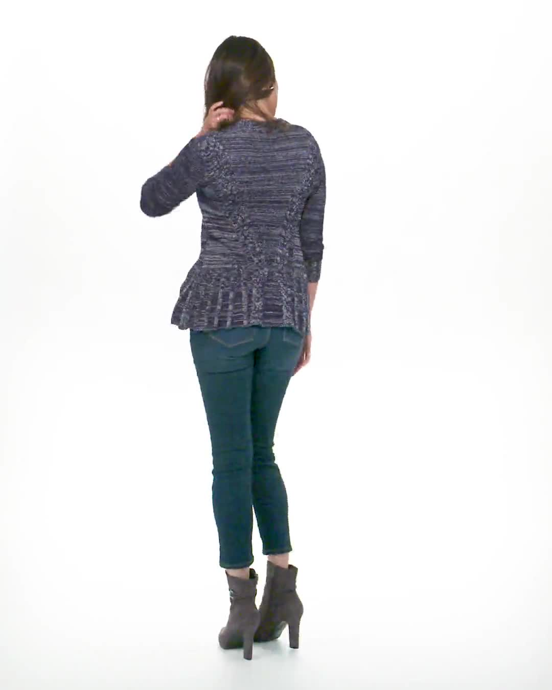 Roz & Ali Marled Button Cardigan - Video