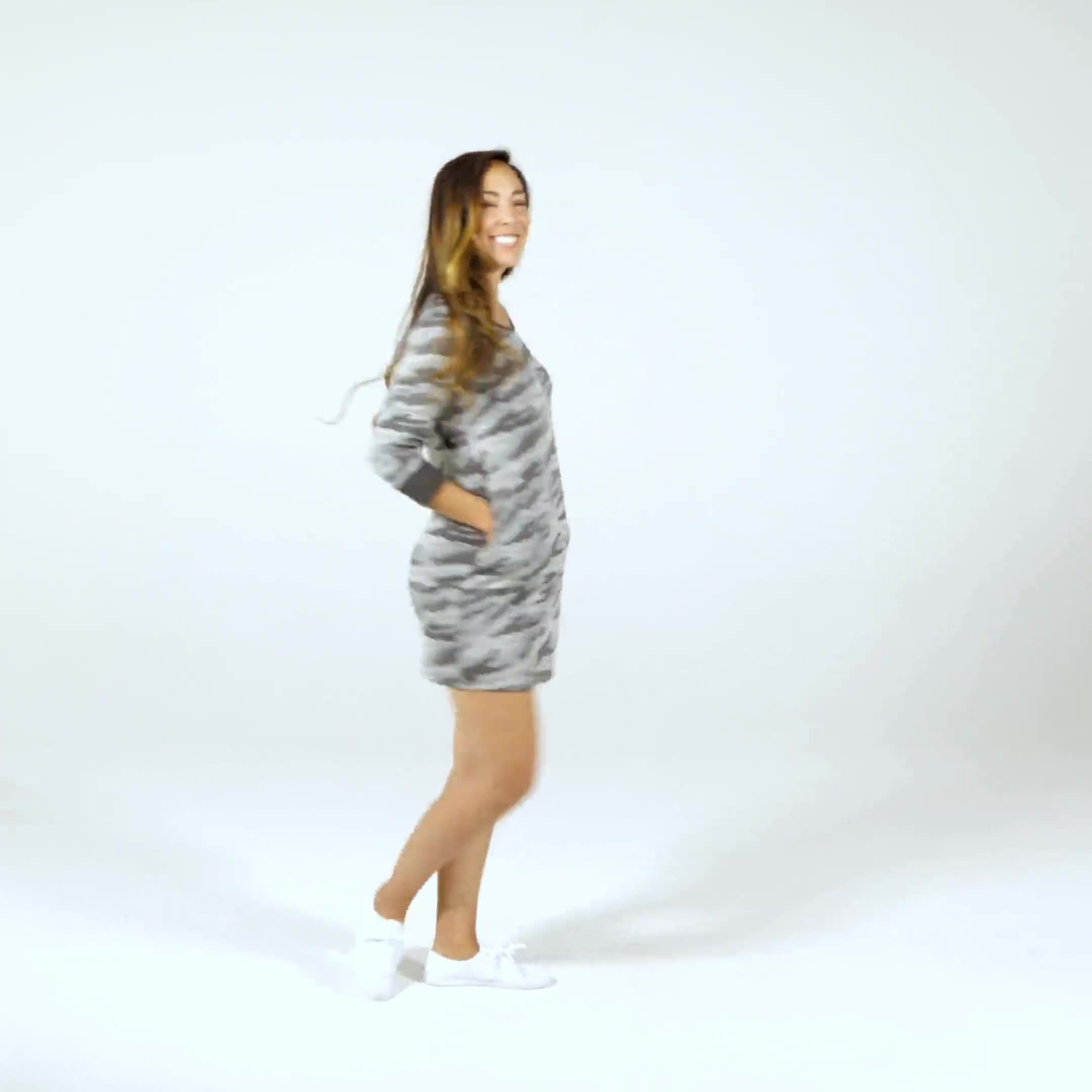 Camouflage Knit Dress - Misses - Video