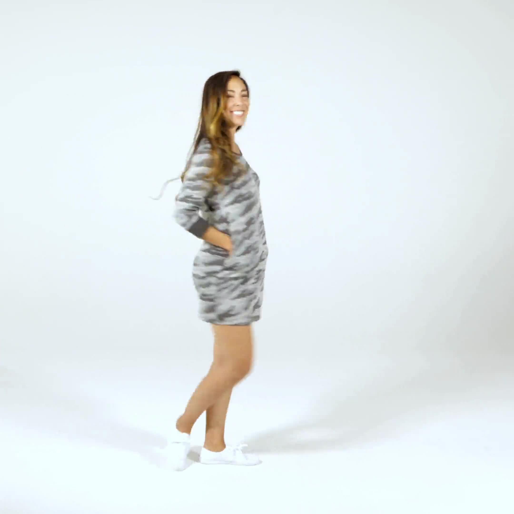 Camouflage Knit Dress - Video
