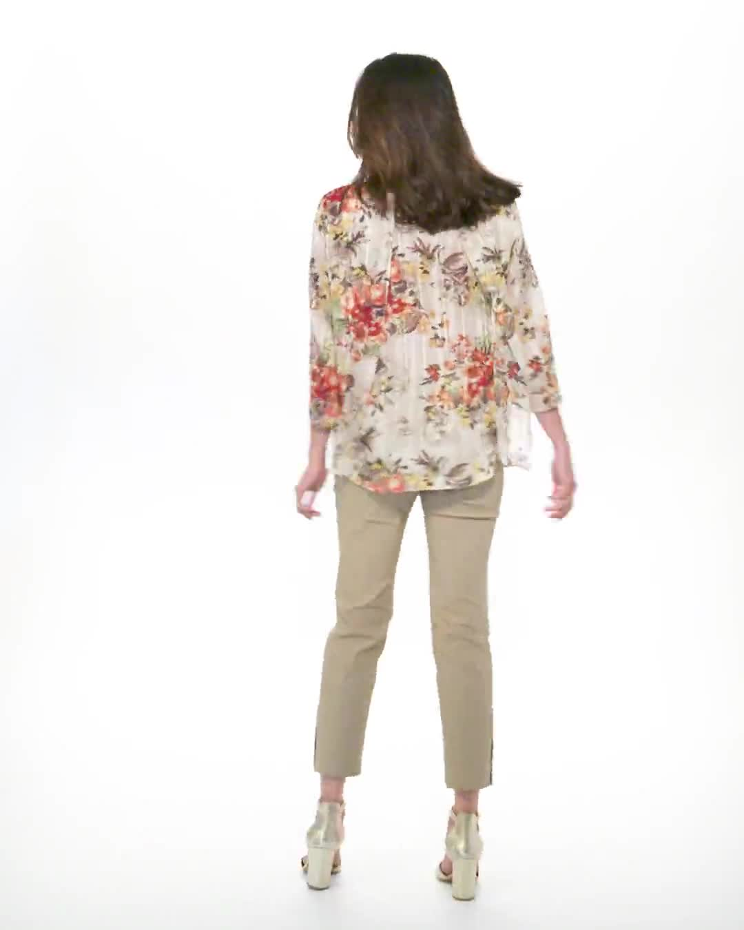 Roz & Ali Fly Away Back Lurex Blouse - Misses - Video