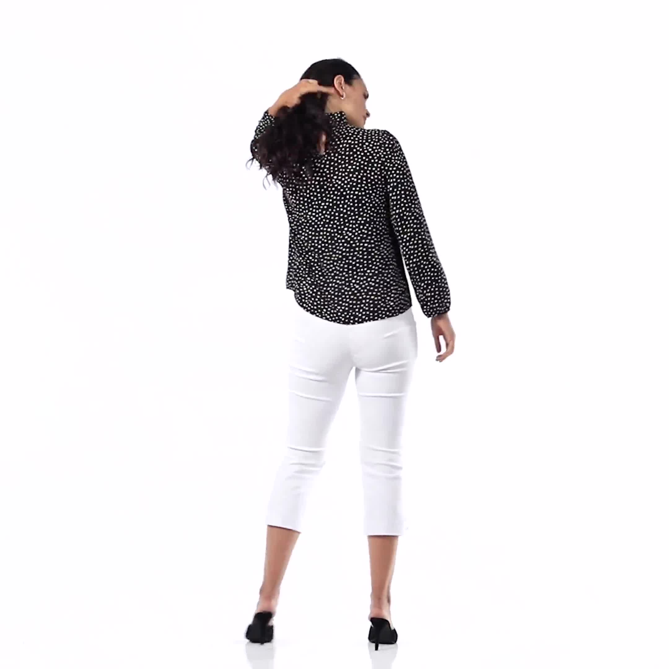 Dot Side Bow Blouse - Video