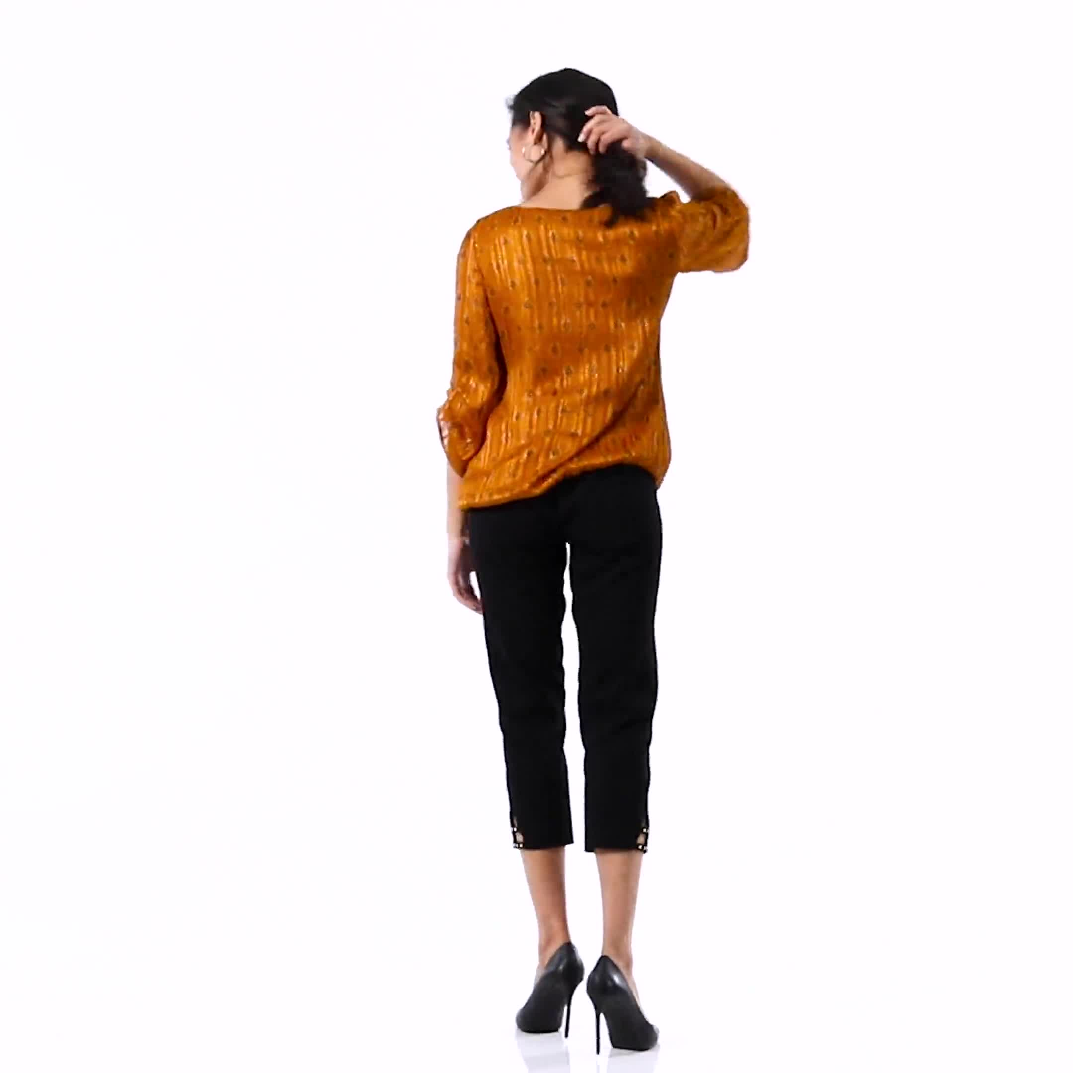 Roz & Ali Diamond Bubble Hem Blouse - Misses - Video