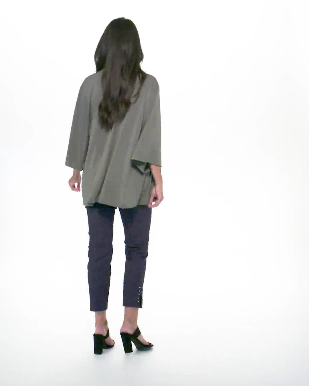 Roz & Ali Kimono Sleeve Grommet Cardigan - Video