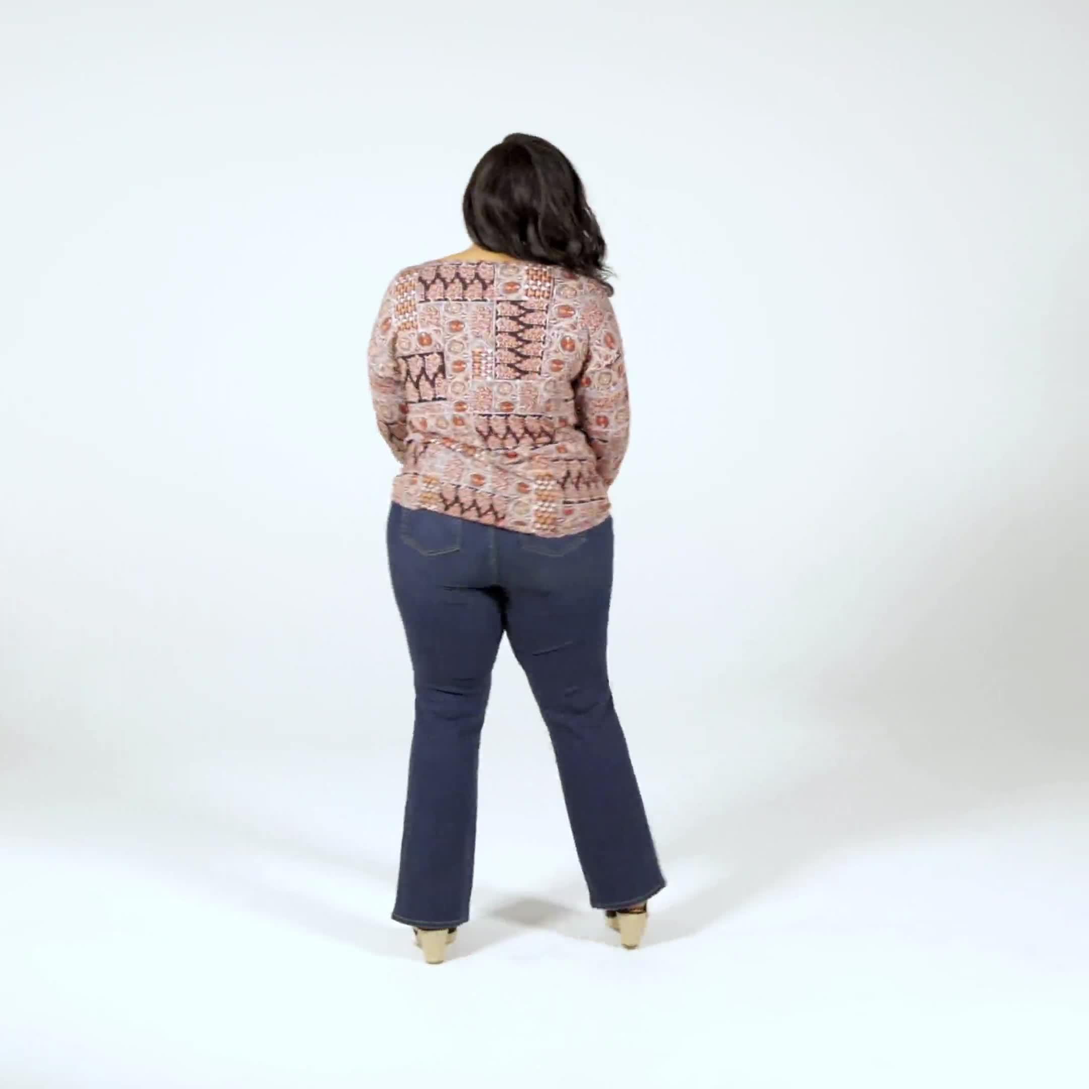 Patchwork Twist Bottom Tee - Plus - Video