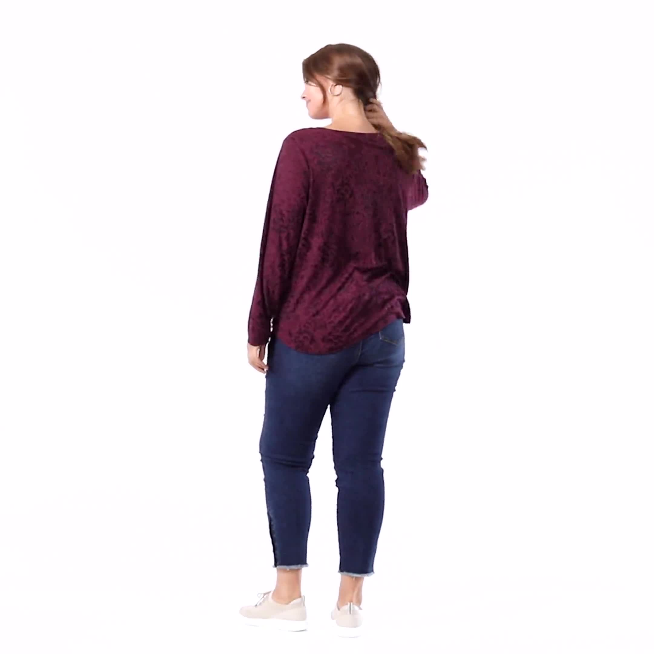 Jacquard Knit Top - Plus - Video