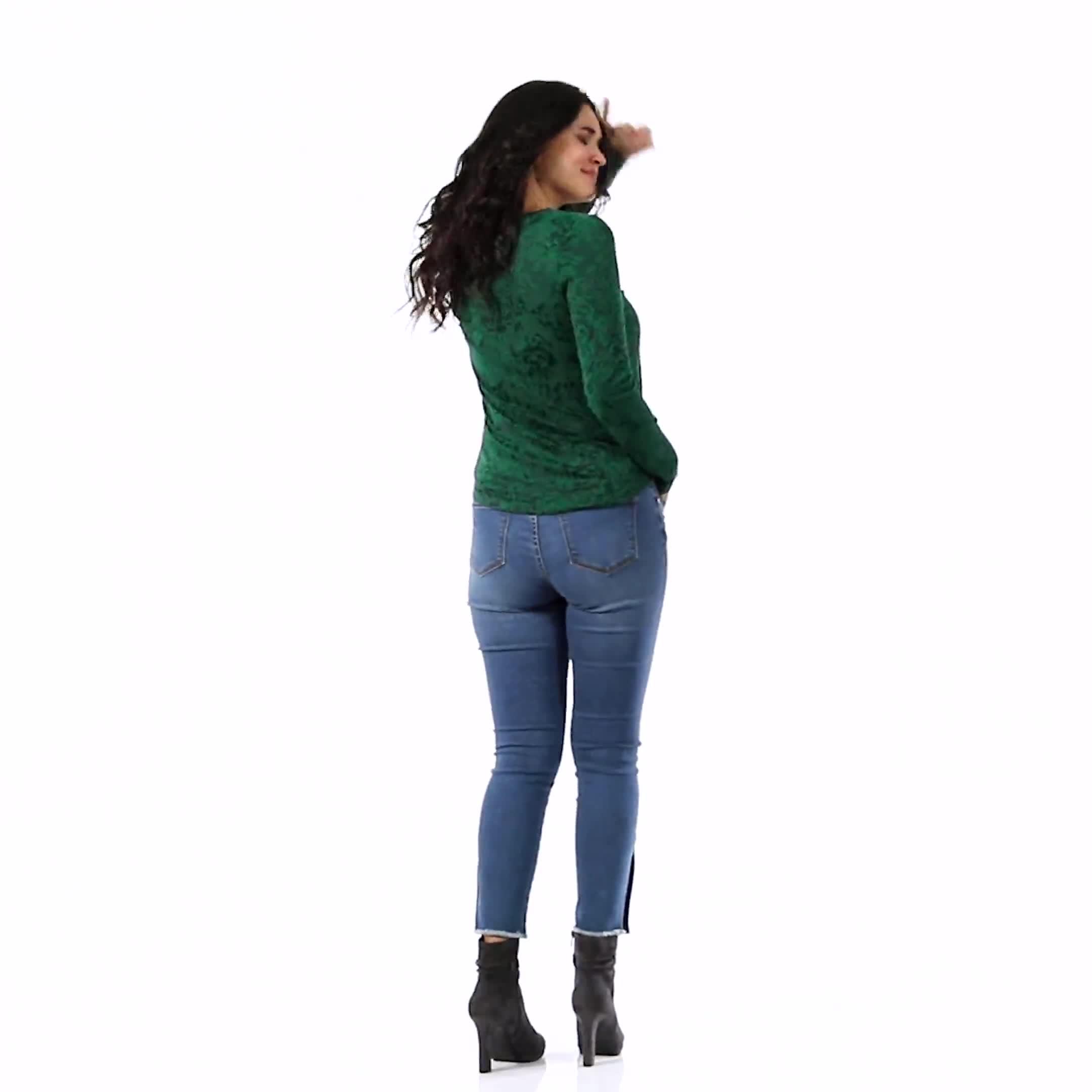 Jacquard Knit Top - Video