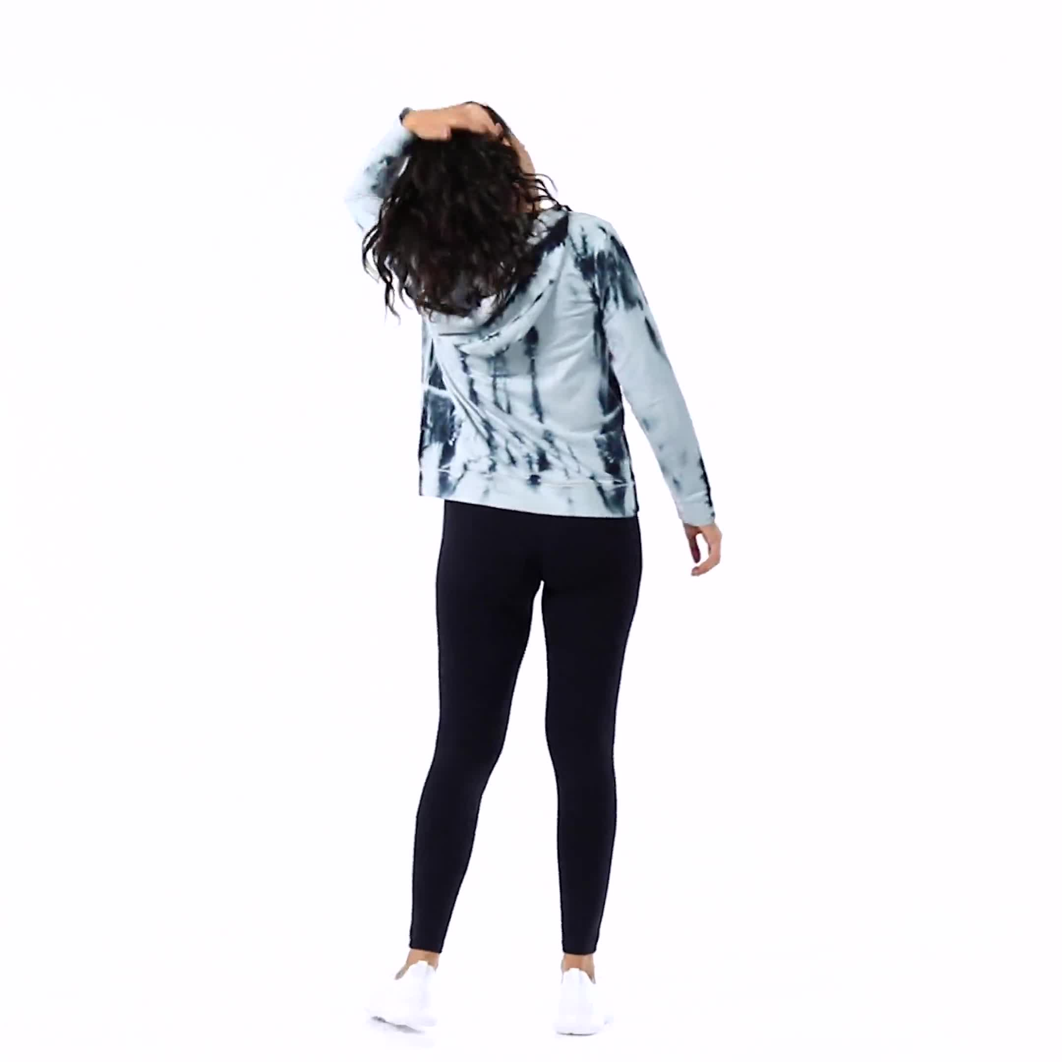 """Wine Me Over"" Tie Dye Knit Hoodie - Video"