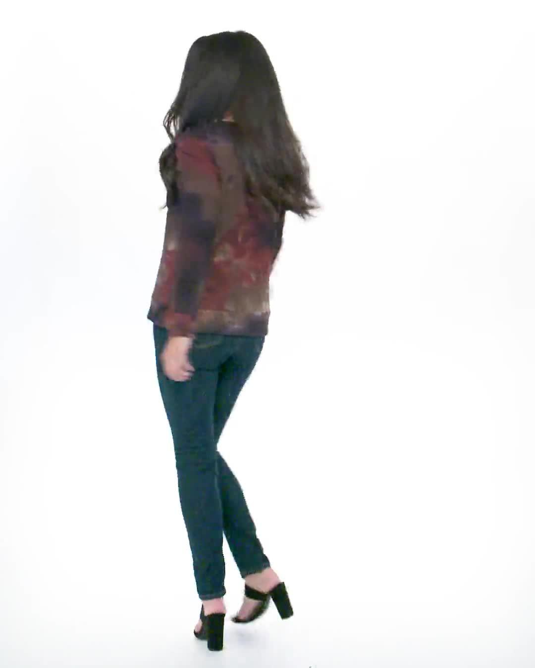 Tie Dye Puff Sleeve Sweatshirt - Misses - Video