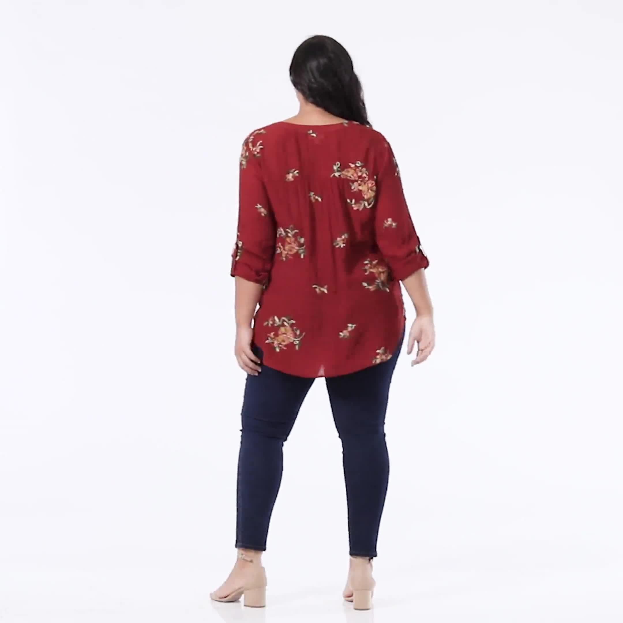 Westport Embroidered Shirt - Plus - Video