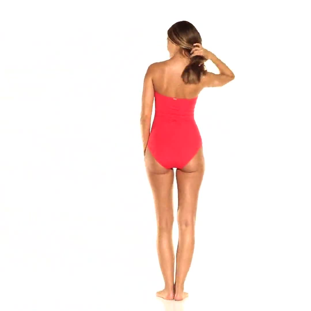 Anne Cole® Live in Color Twist Front Shirred One Piece Swimsuit - Video