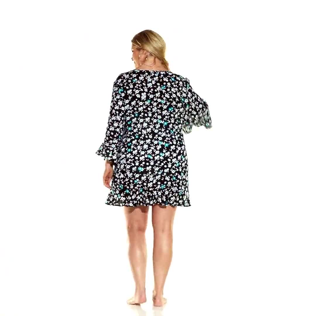 Anne Cole® Beautiful Bunches Tunic Swimsuit Cover-Up - Plus - Video