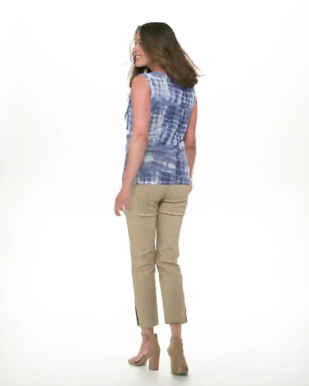 Tie Dye Denim Friendly Knit Top - Video