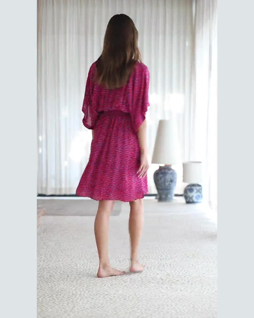 Flynn V-neck Mini Dress - Video