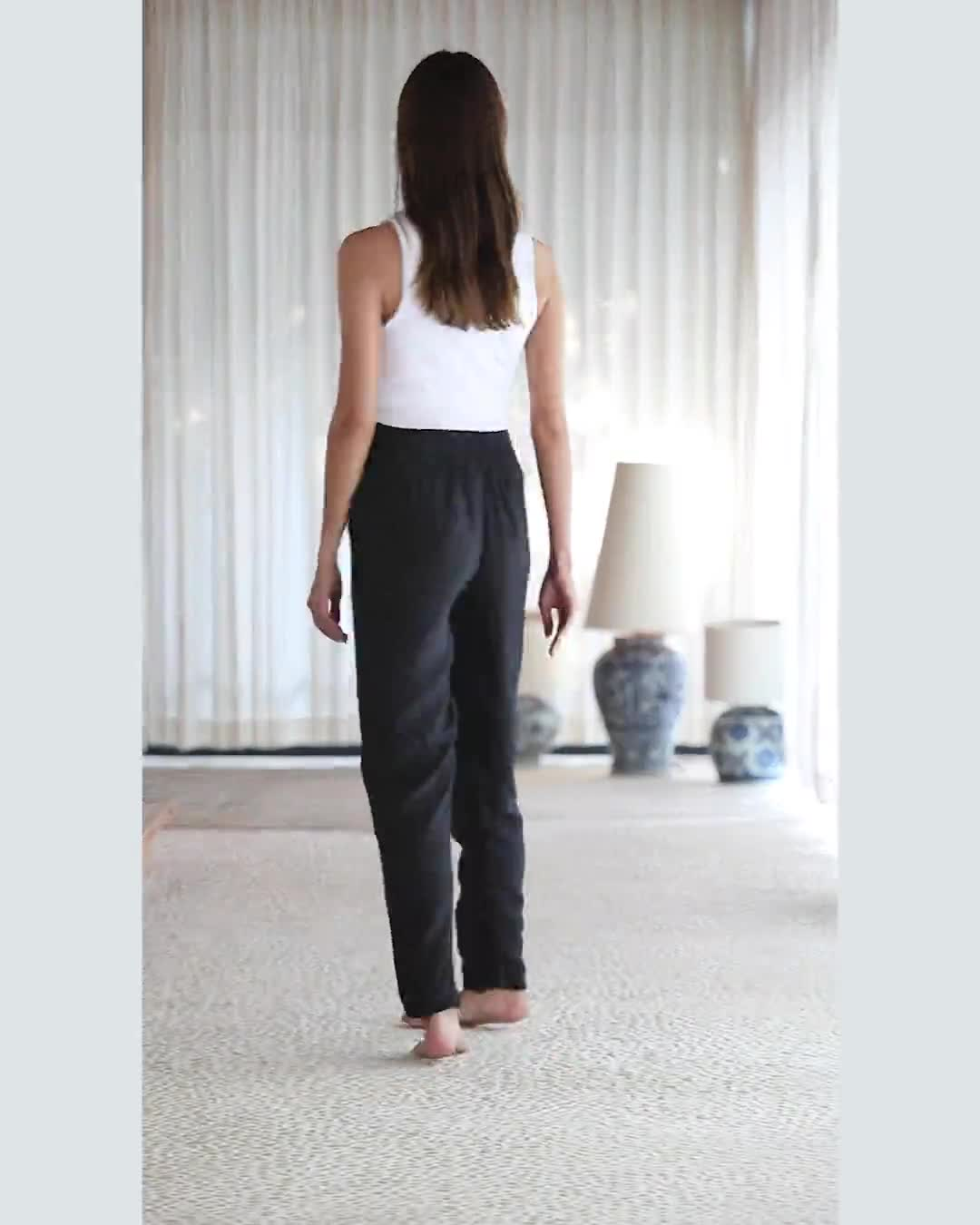 Aquerella Relaxed Fit With Pockets Pants - Video