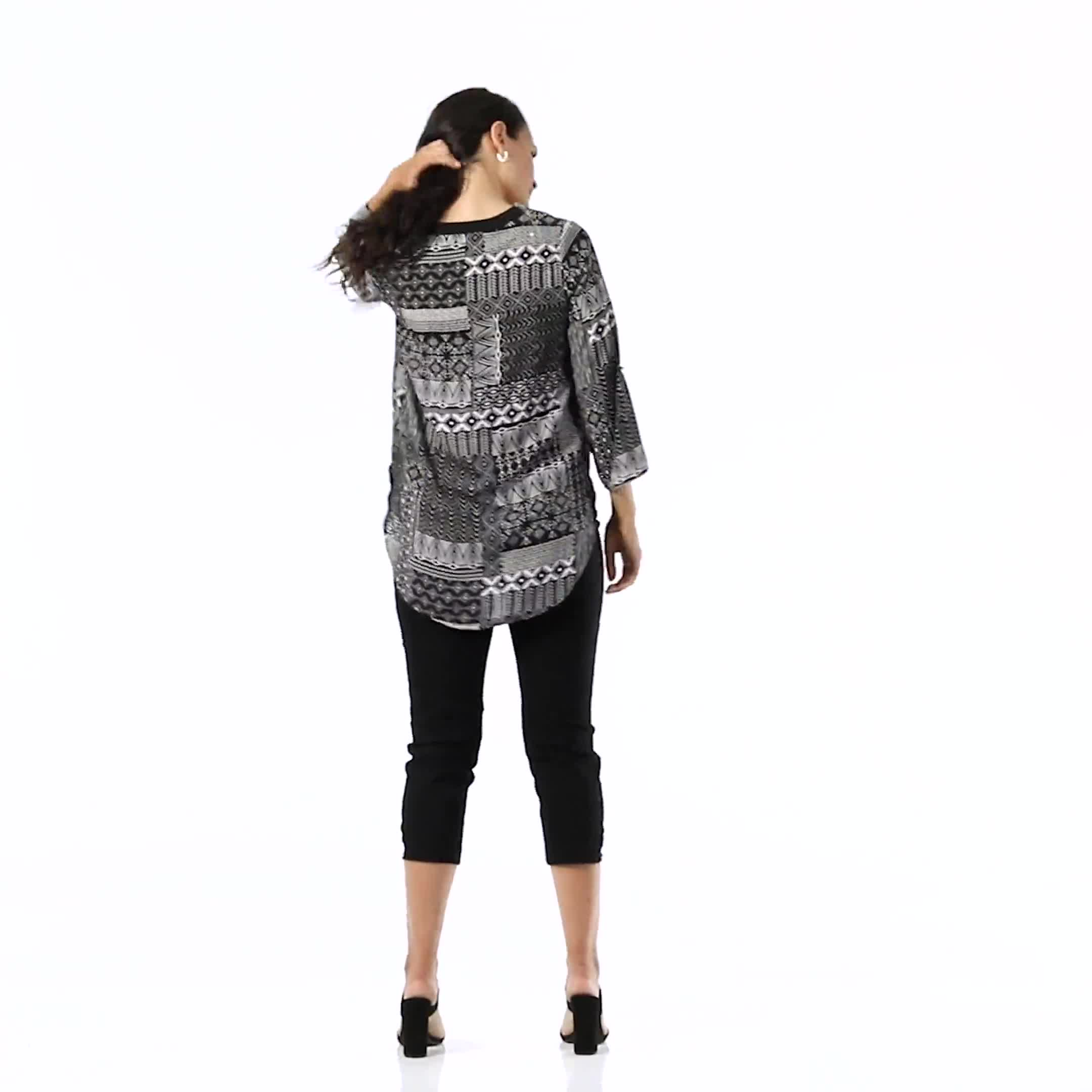 Patchwork Solid Piped Woven Popover - Video