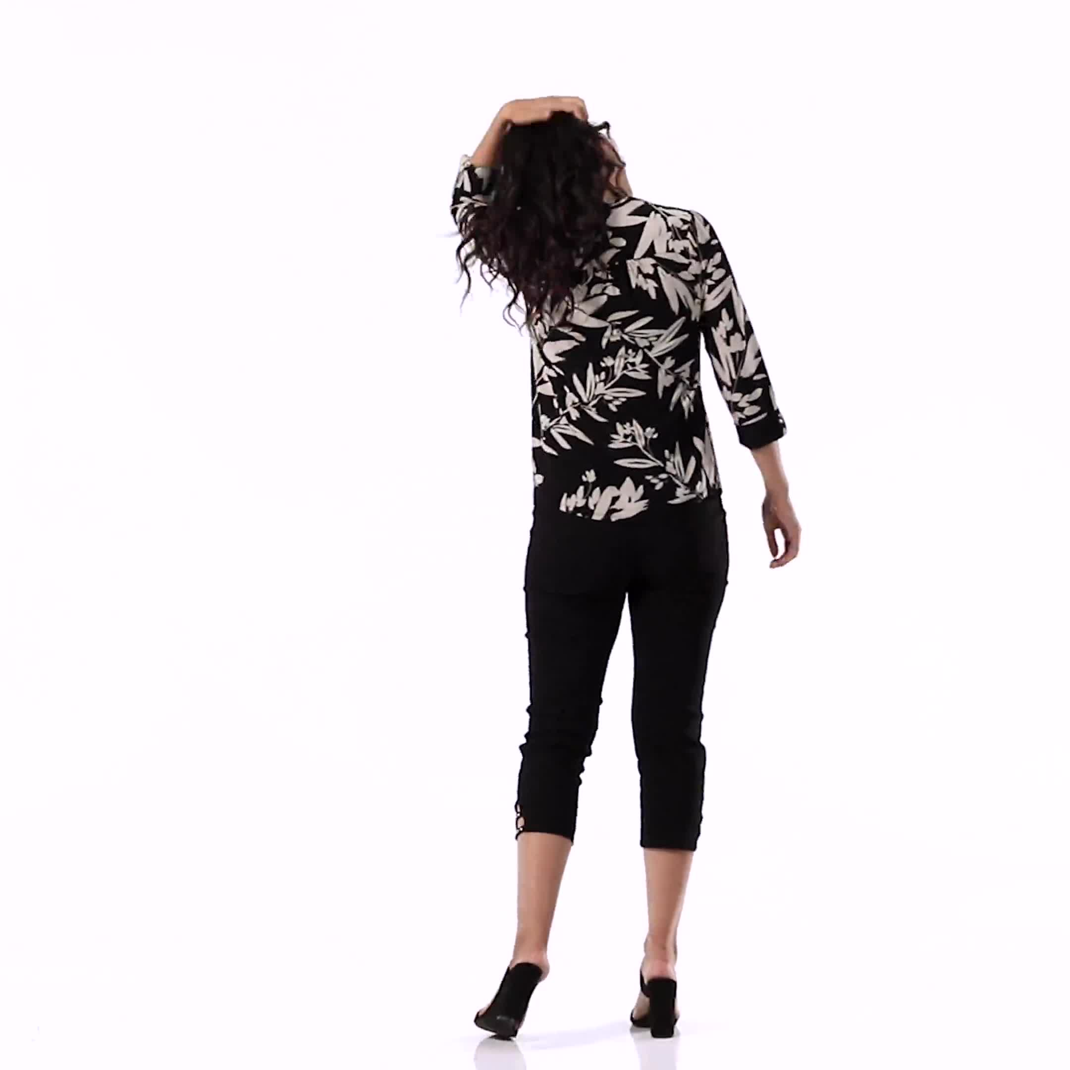 Floral Henley Woven Popover - Video