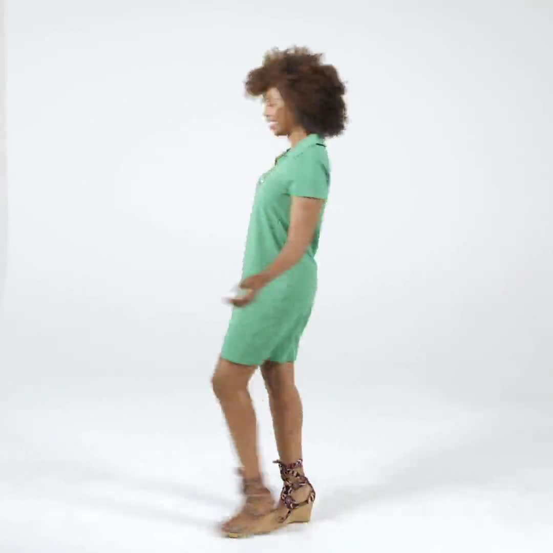 Polo Collar Zip Dress - Video
