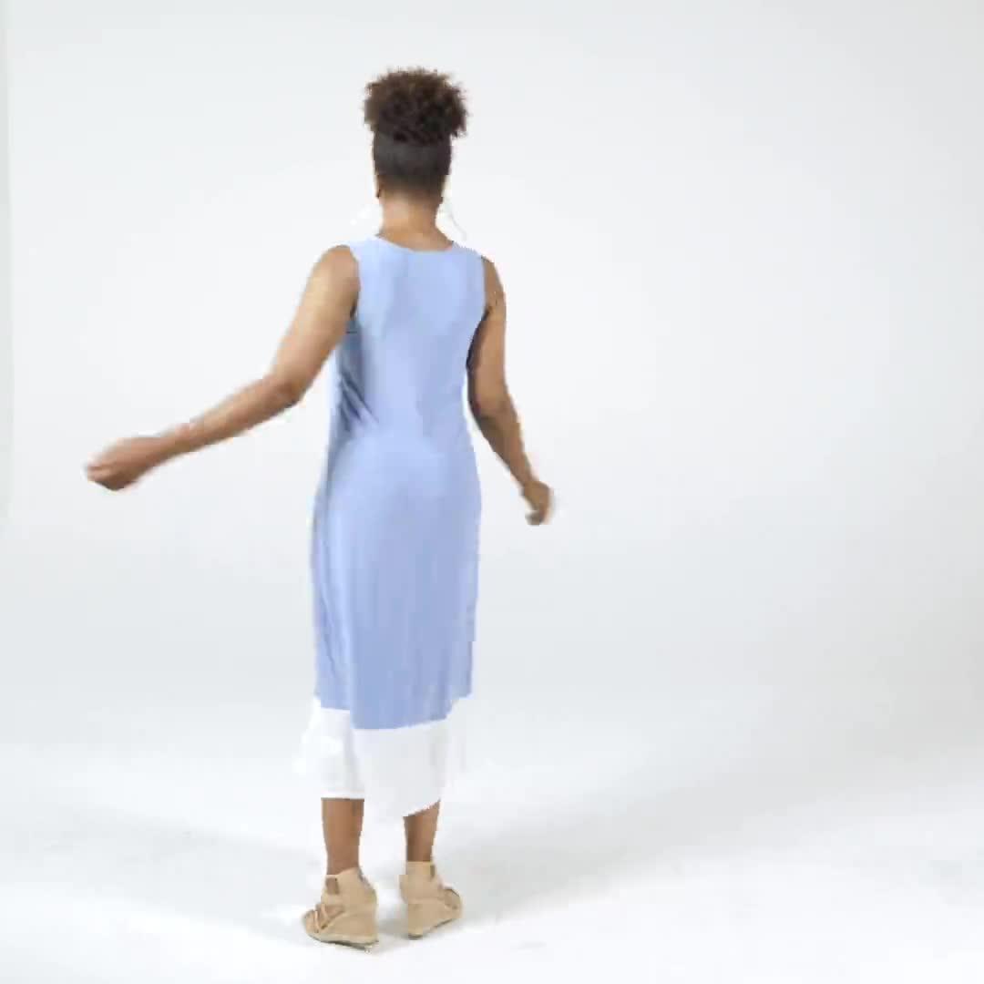 Color Block Maxi Dress - Video