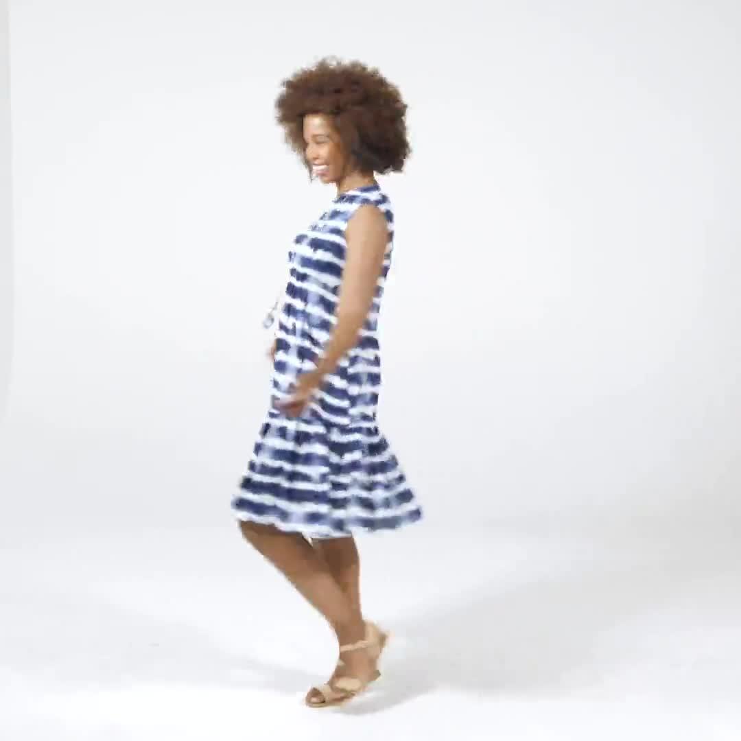 Tie Dye Print Dress - Video