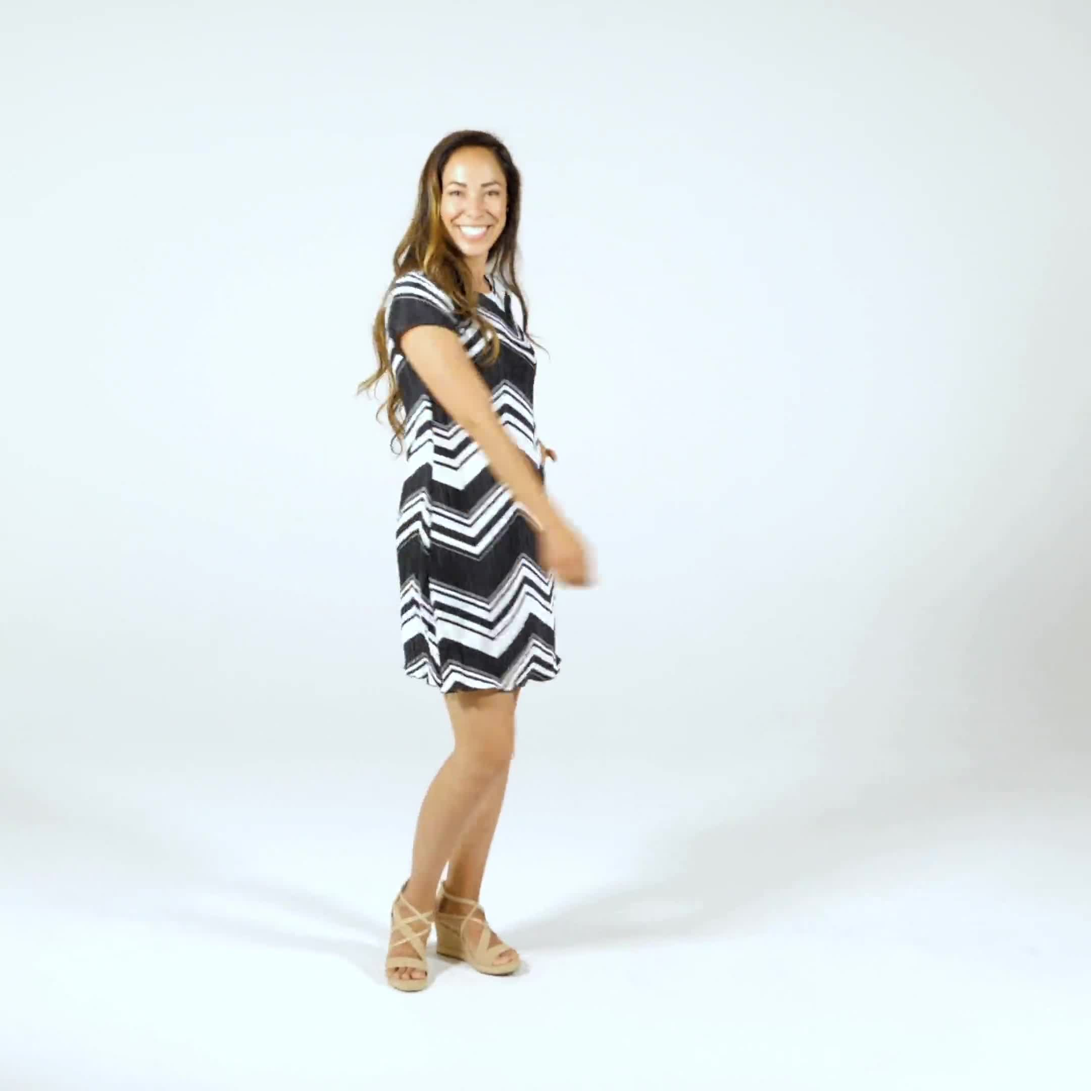 Chevron Knit Dress - Video