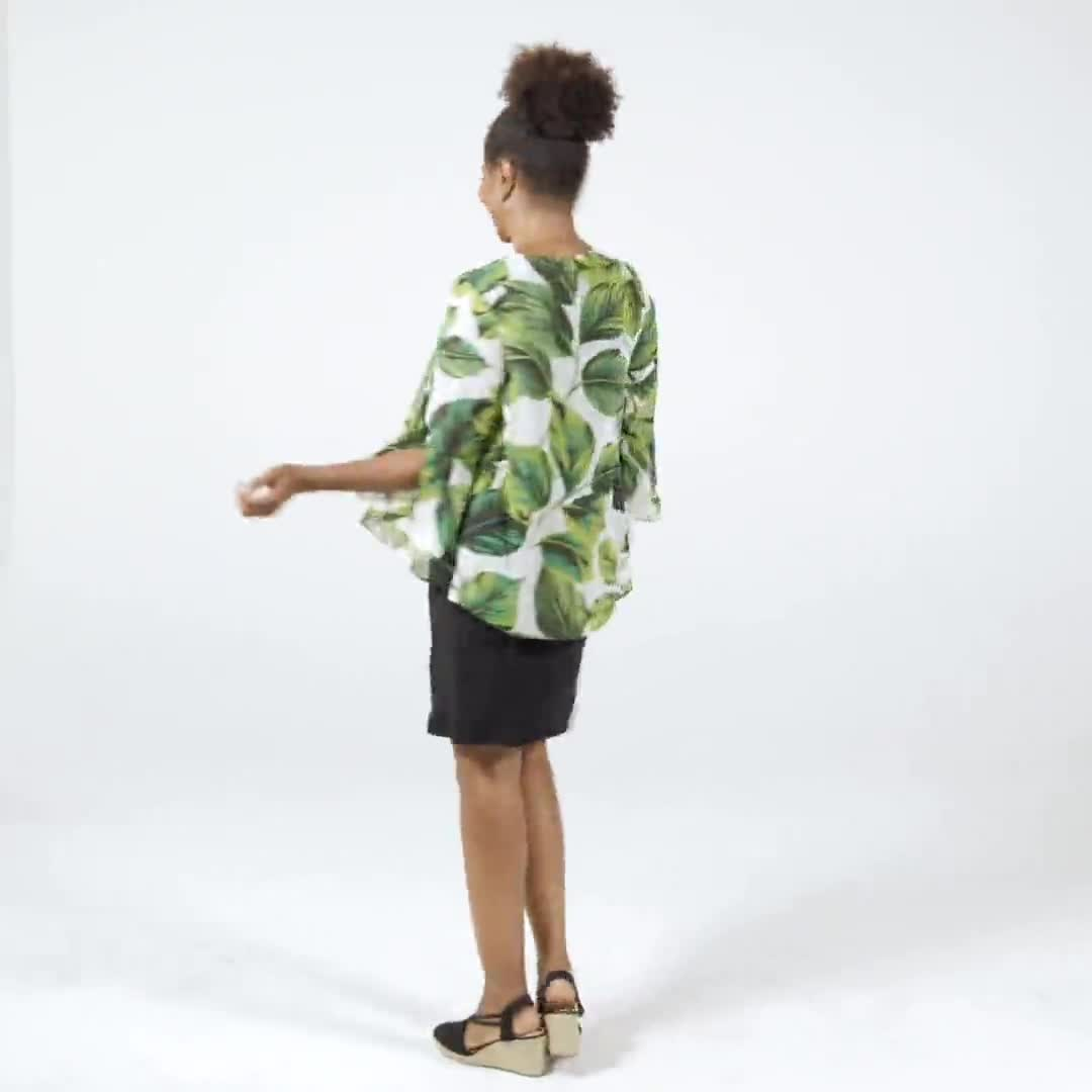Leaf Print Jacket Dress - Video