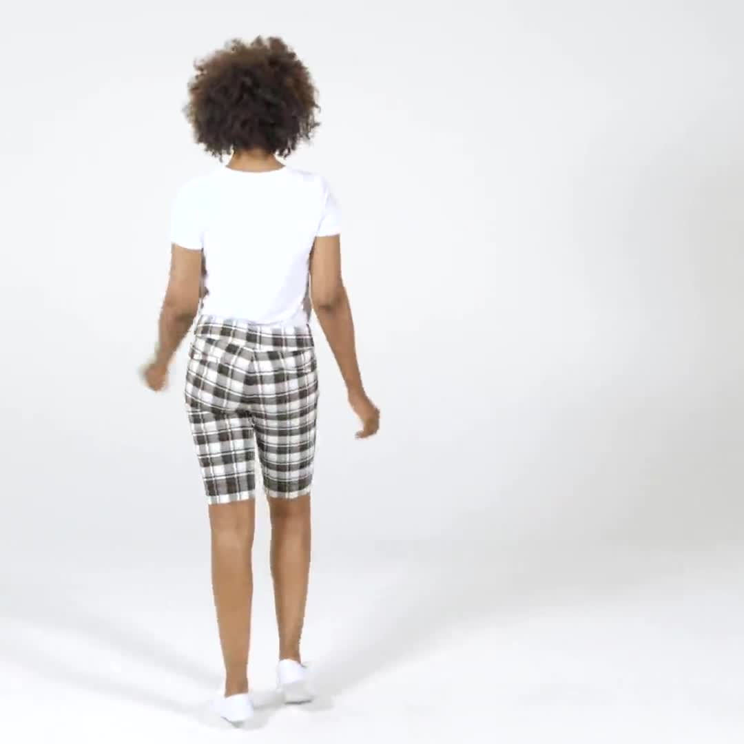 Cuffed Bermuda Short with Tab Waist Detail - Video