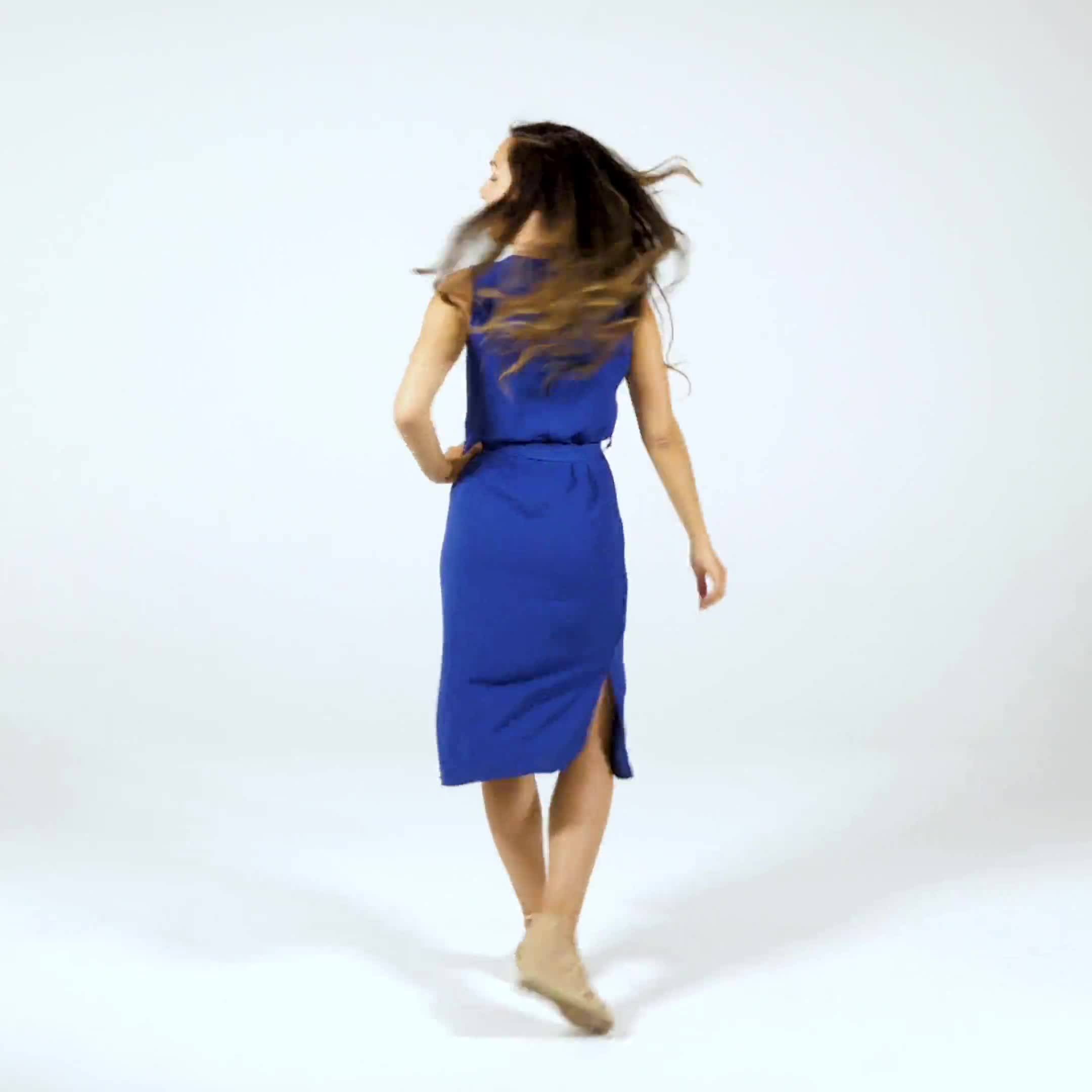 Button Front  Dress - Video