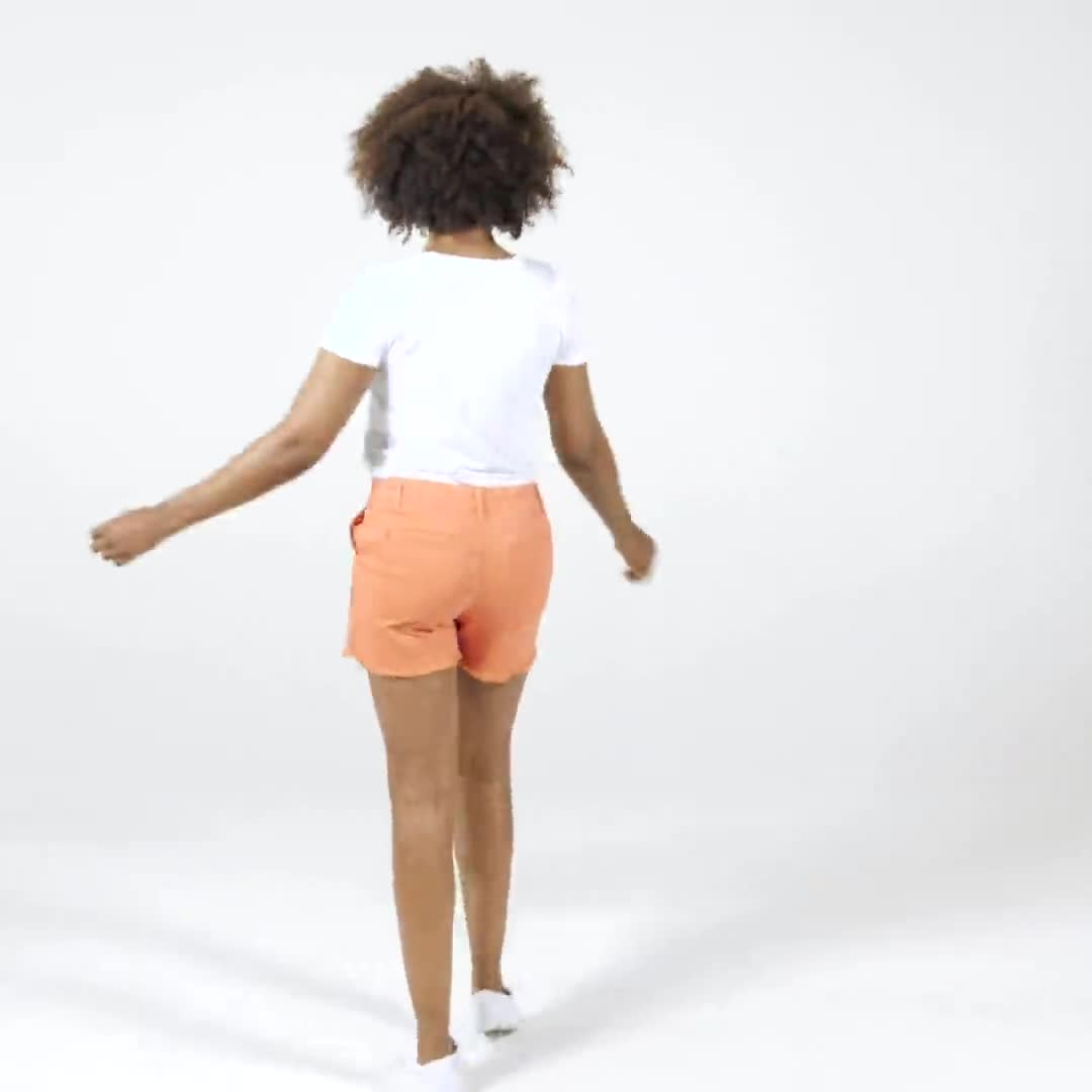 Fly Front Slash Pocket Short with Fray Hem - Video
