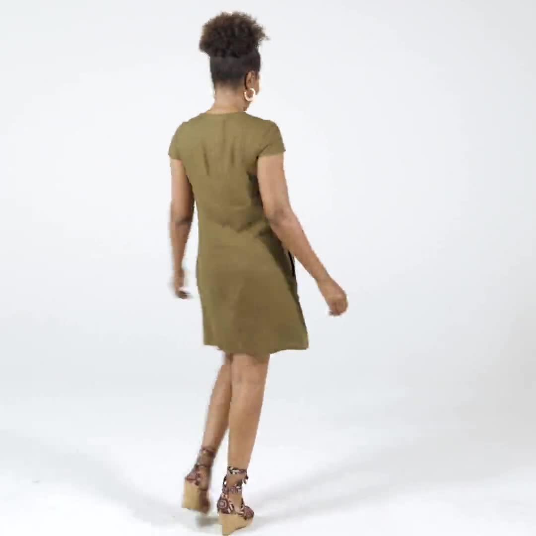 Big Button Linen Dress - Video