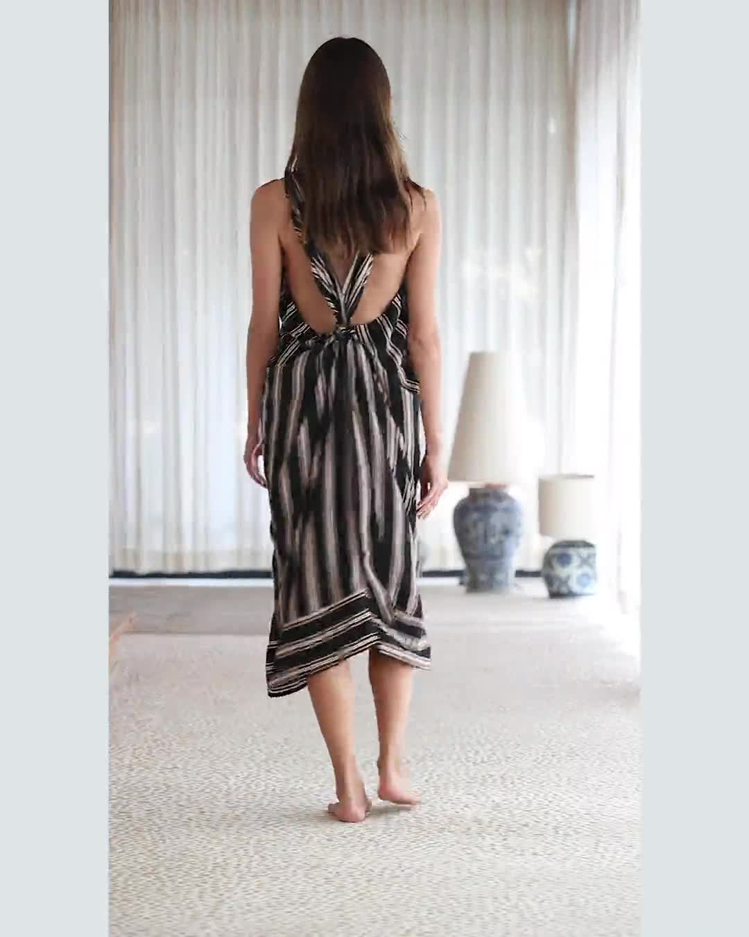Striped Loose Sleeveless Dress - Video