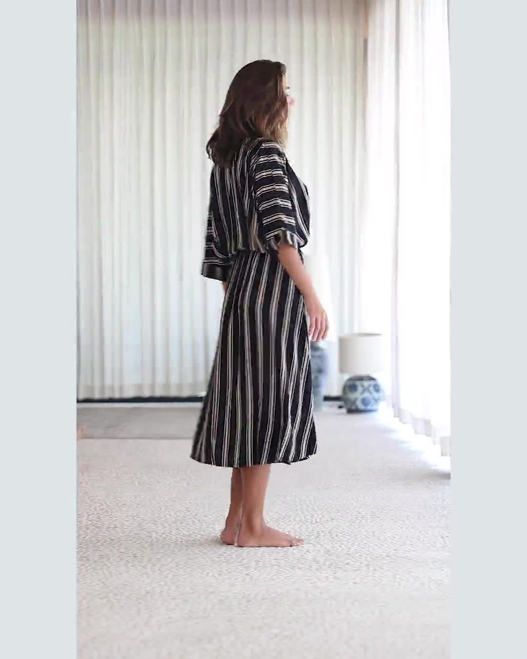 Kaftan Striped Dress - Video