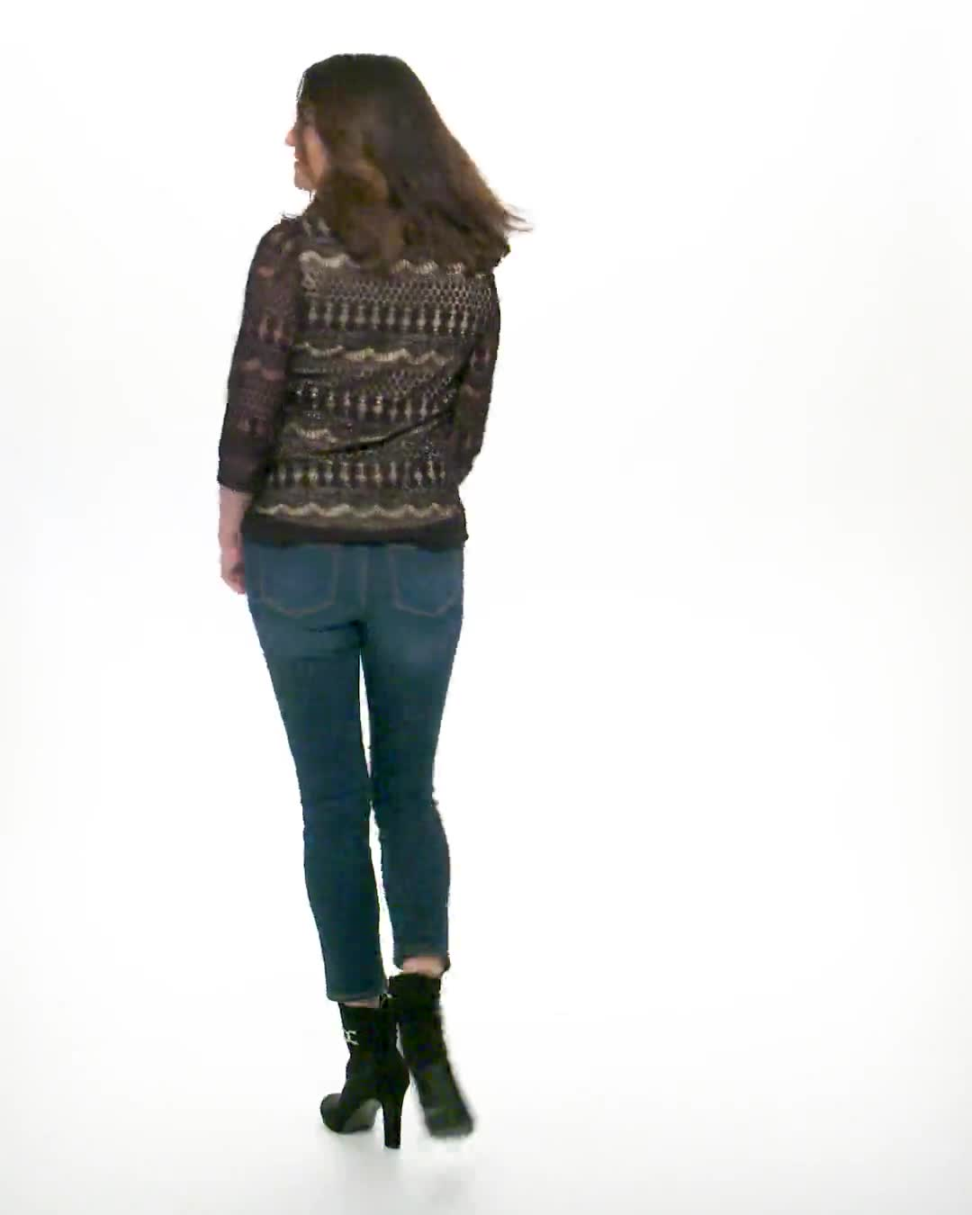 Crochet Lined Knit Top - Video