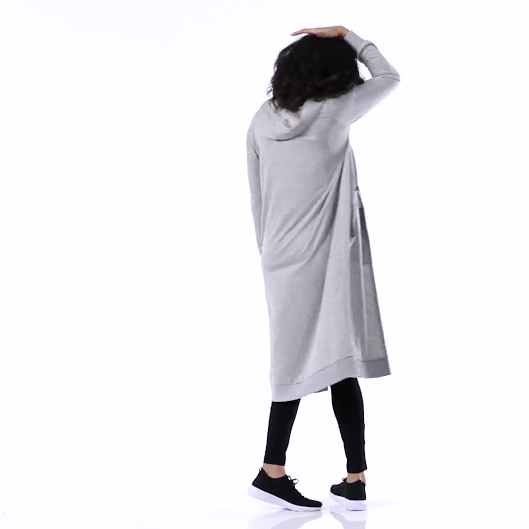 French Terry Duster Hoodie - Misses - Video