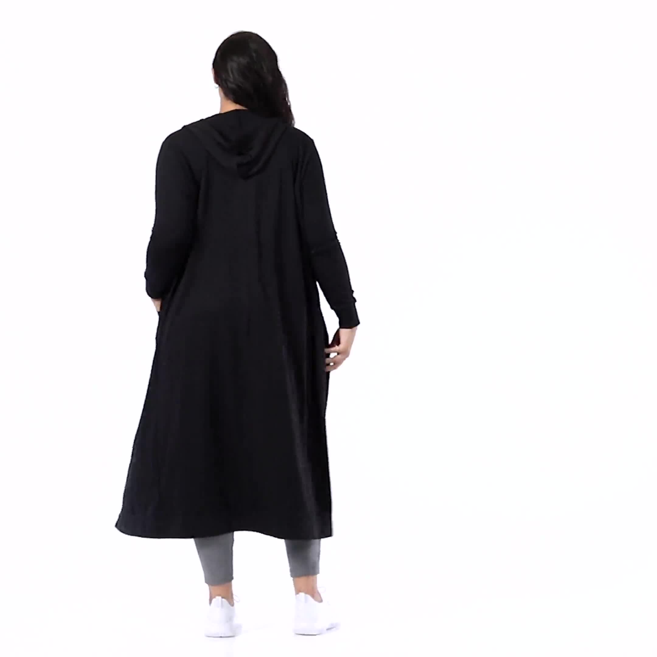 French Terry Duster Hoodie - Plus - Video