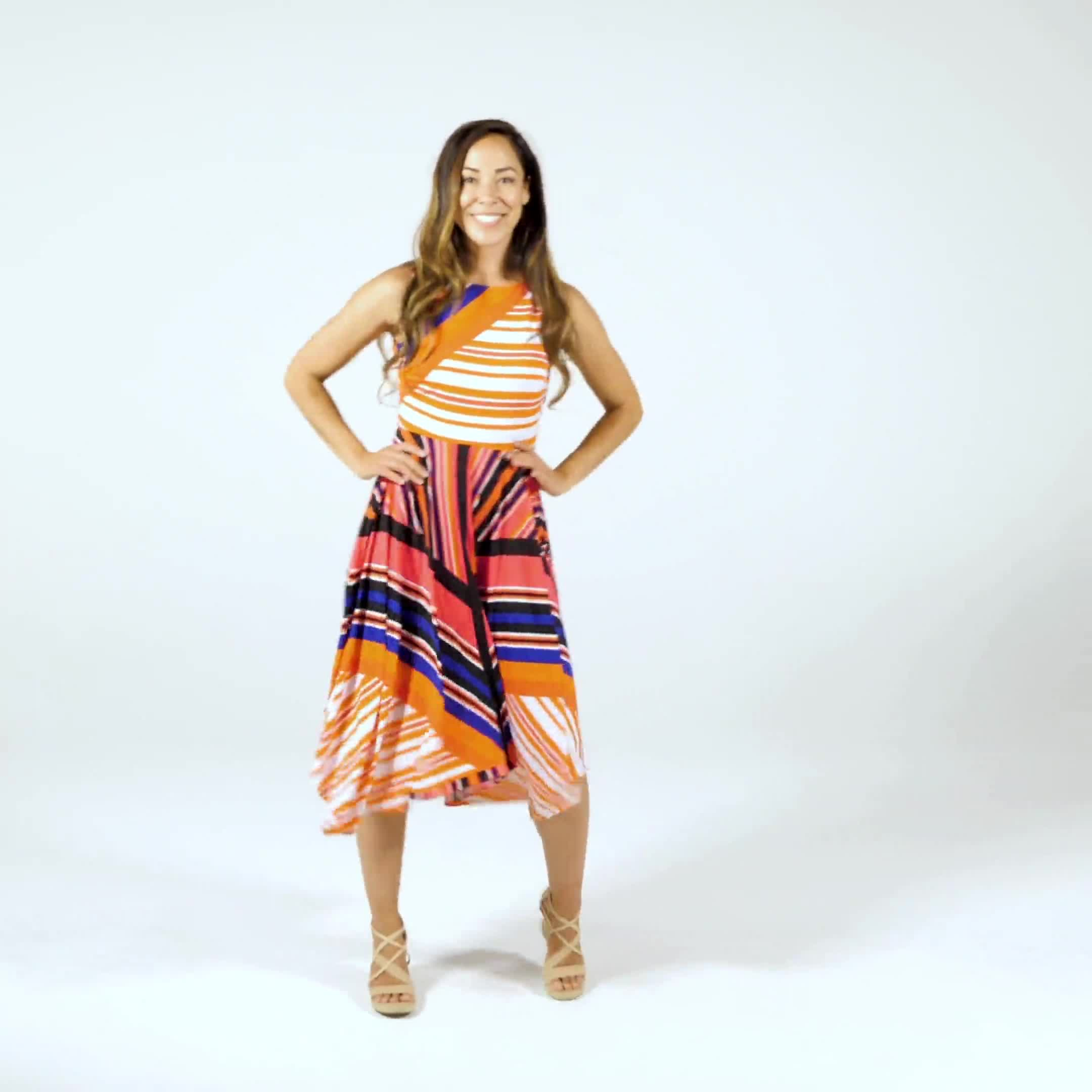 Colorful Striped Dress - Misses - Video