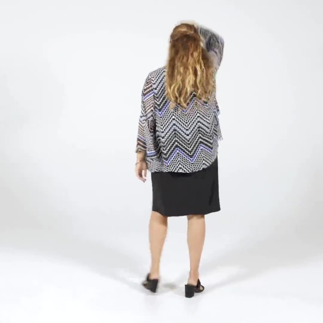 Chevron Chiffon Jacket Dress - Video