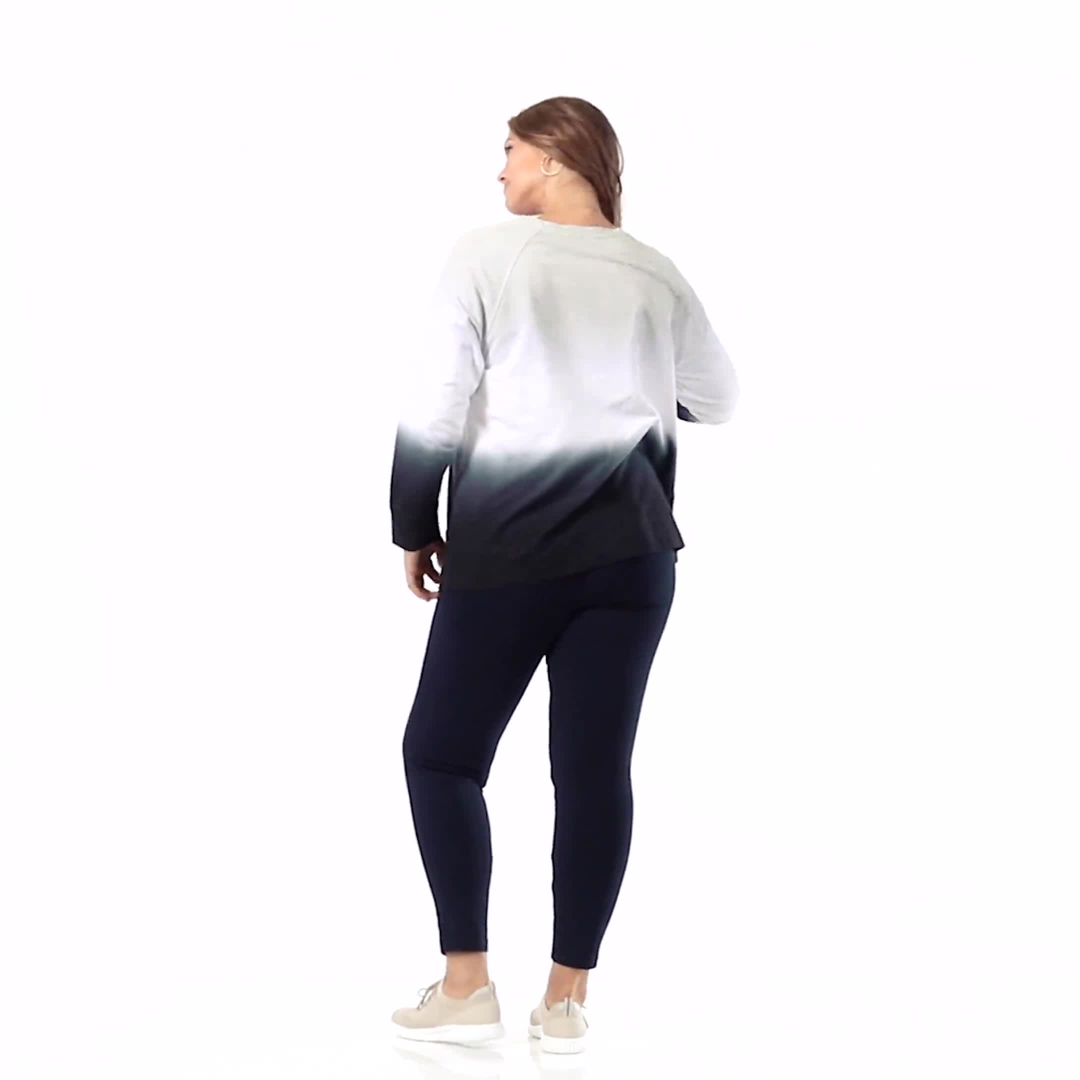 Dip-Dye Crew Neck Sweatshirt - Video
