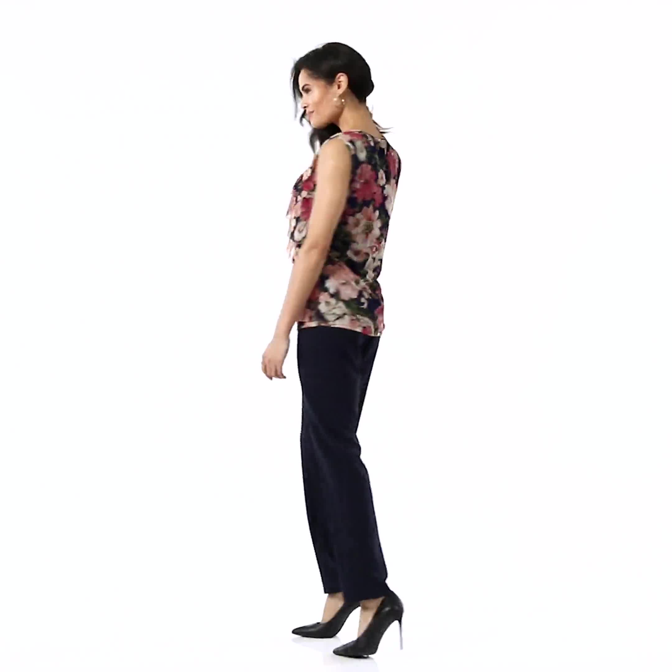 Mesh Tiered Floral Knit Top - Video