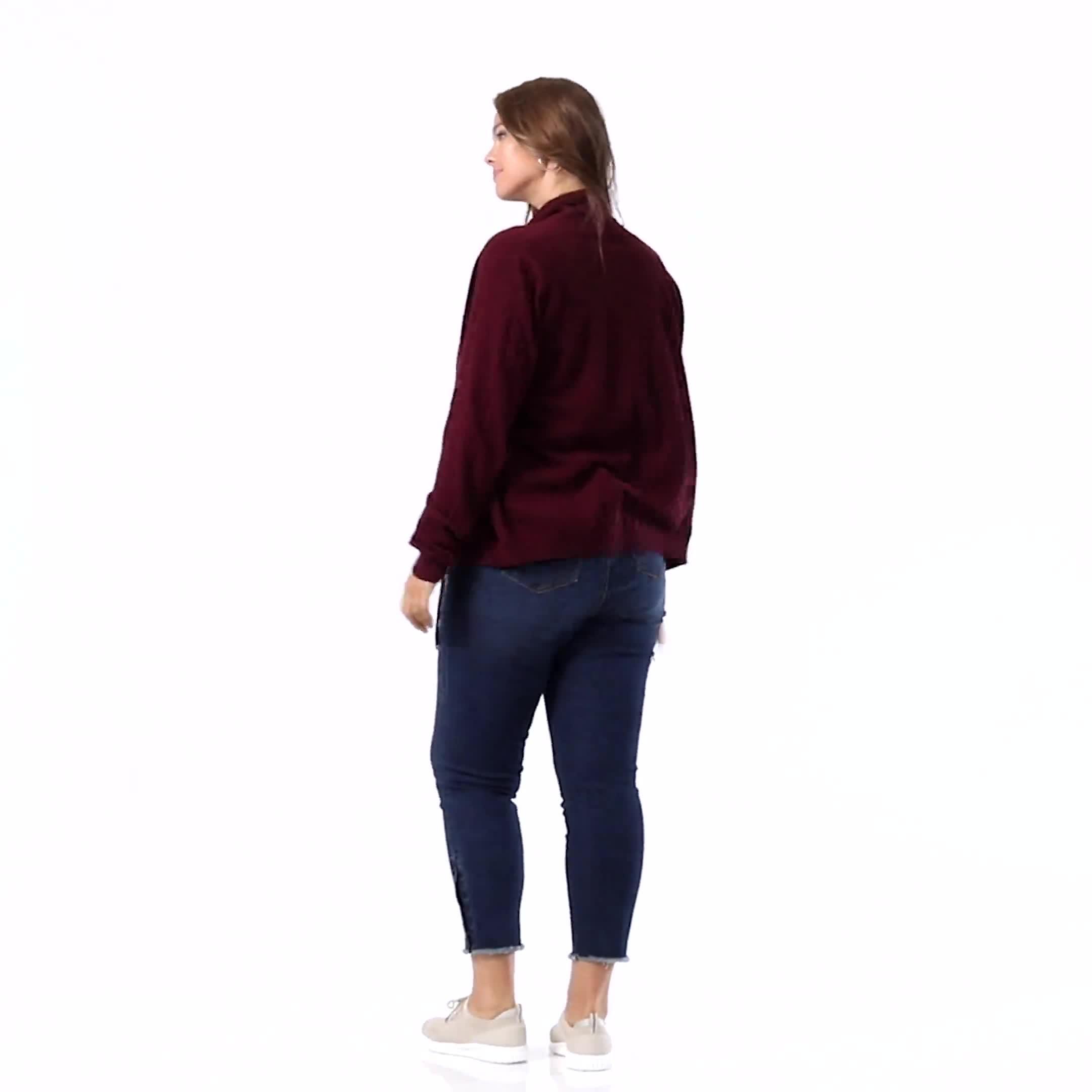 Picot Trim Cotton Spandex Cami - Plus - Video