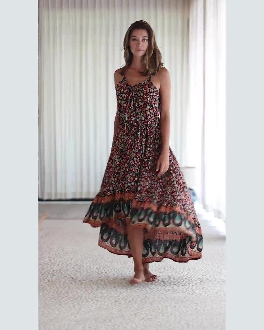 Thin Strap Maxi Dress - Video